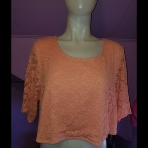 Torrid Insider Collections Crop Top lace peach